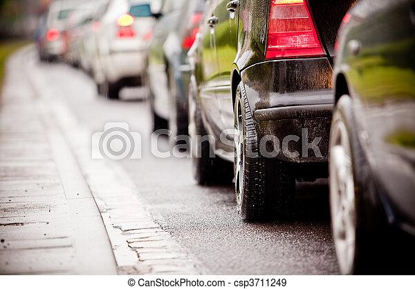 αιτία , βροχή , κυκλοφορία , εθνική οδόs , πελτέs , κατακλυσμός  - csp3711249