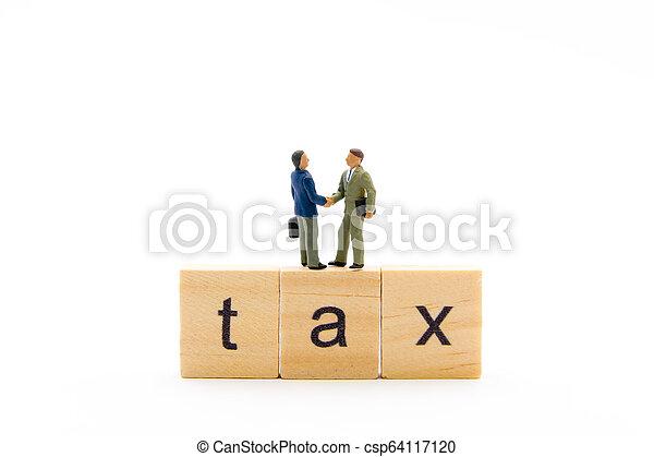 ακάθιστος , κορμός , επιχείρηση , ξύλινος , κλονισμός , πάνω , άντρεs , φορολογώ , απομονωμένος , μινιατούρα , άγαλμα , φόντο , κατασκευή , γράμματα , λέξη , άσπρο , ανάμιξη  - csp64117120