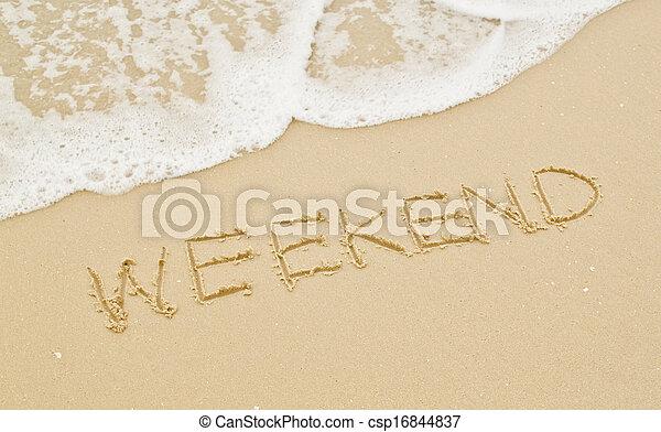 ακρογιαλιά. , σαββατοκύριακο  - csp16844837