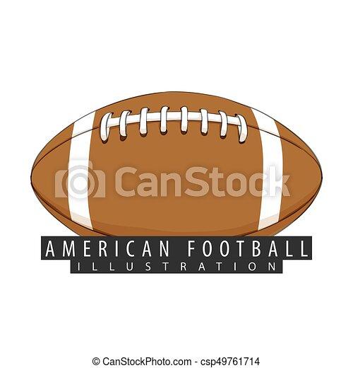 αμερικανός , μπάλα , closeup , ποδόσφαιρο  - csp49761714
