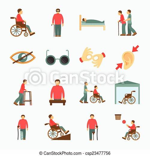 ανάπηρος , διαμέρισμα , θέτω , απεικόνιση  - csp23477756