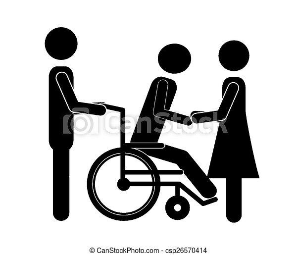 ανάπηρος , σχεδιάζω  - csp26570414