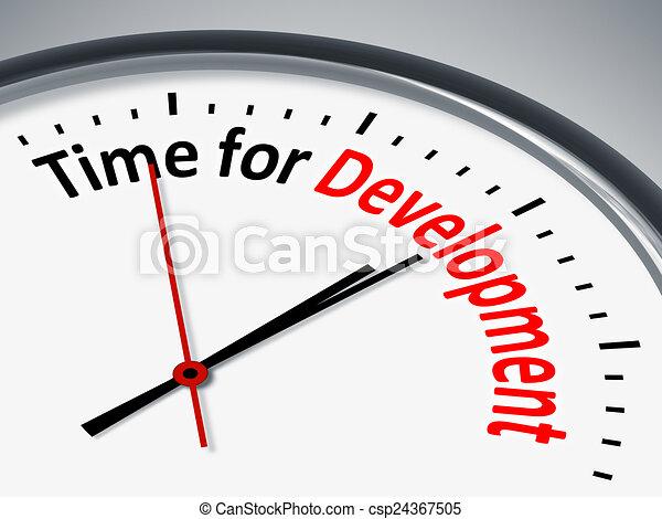 ανάπτυξη , ώρα  - csp24367505