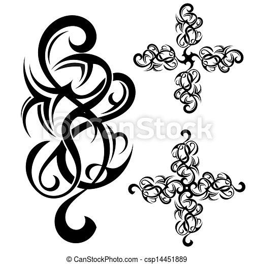 ανήκων σε φυλή αριστοτεχνία , τατουάζ  - csp14451889