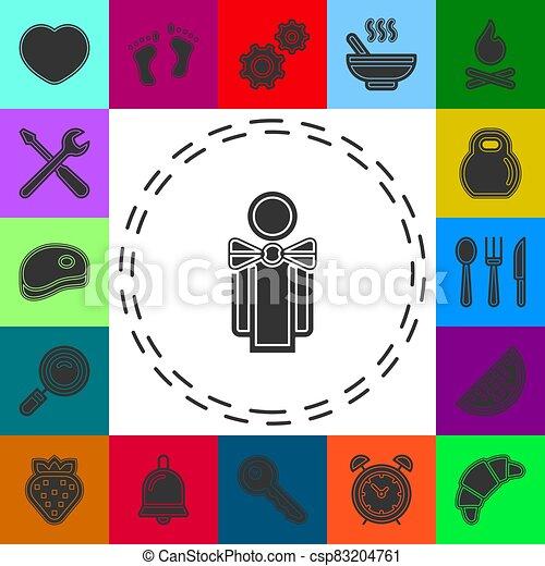ανήρ διευκρίνιση , γκαρσόνι , γκαρσόνι , περίγραμμα  - csp83204761