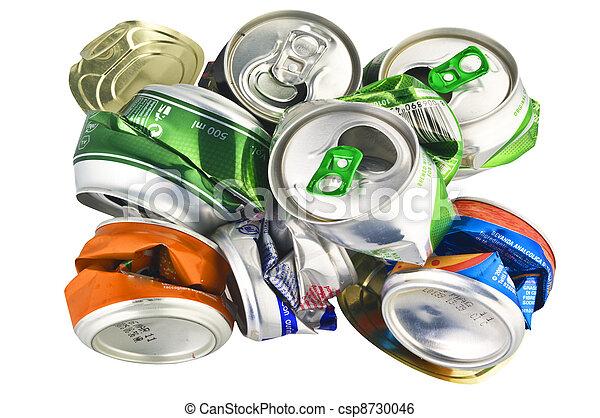 ανακυκλώνω , άσπρο , cans , αλουμίνιο  - csp8730046