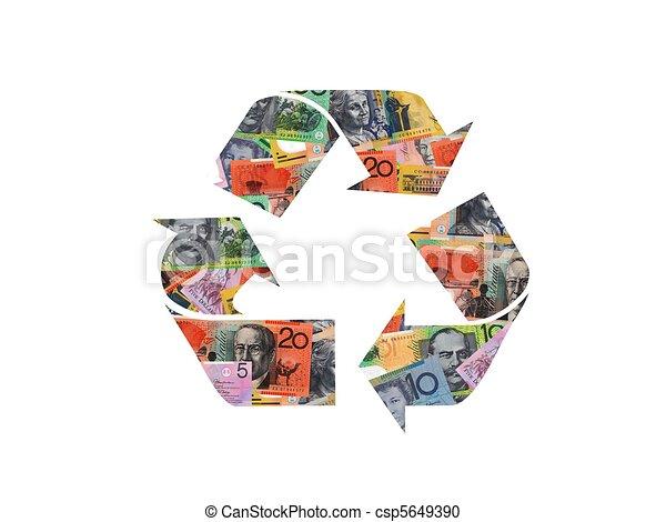 ανακυκλώνω σύμβολο  - csp5649390