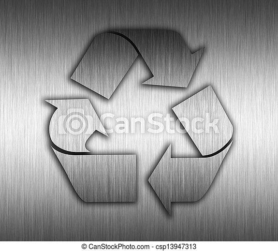 ανακύκλωση , μέταλλο , φόντο  - csp13947313