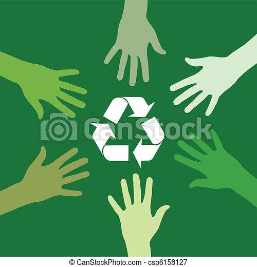 ανακύκλωση , πράσινο , ζεύγος ζώων  - csp6158127