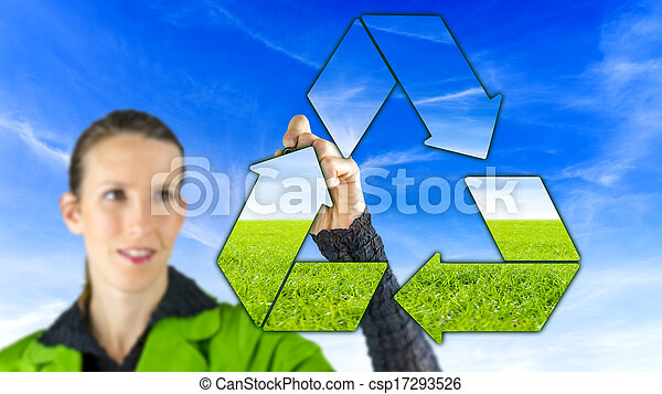 ανακύκλωση , σήμα  - csp17293526