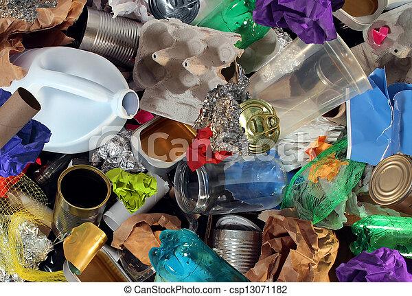 ανακύκλωση , σκουπίδια  - csp13071182