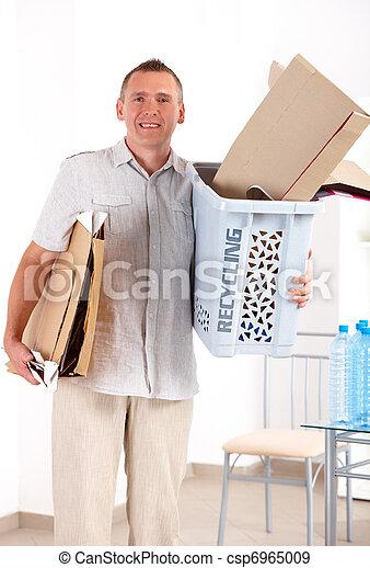 ανακύκλωση , χαρτί , άντραs  - csp6965009