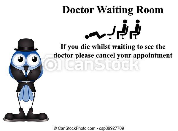 αναμονή , γιατρός , δωμάτιο , σήμα  - csp39927709