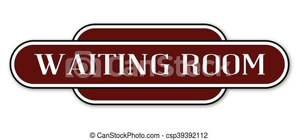 αναμονή , θέση , δωμάτιο , σήμα  - csp39392112