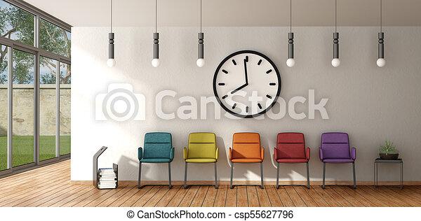 αναμονή , καρέκλα , δωμάτιο , γραφικός  - csp55627796