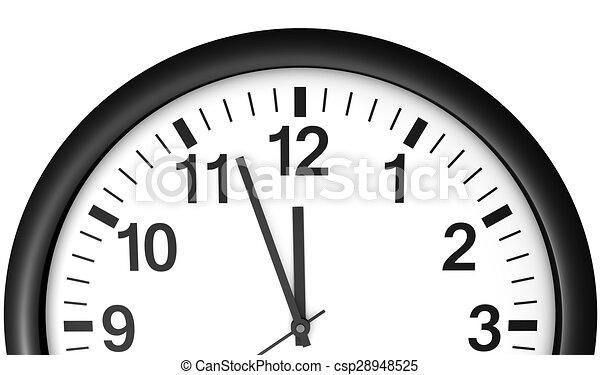 αναμονή , ρολόι , μεσάνυκτα , ώρα  - csp28948525