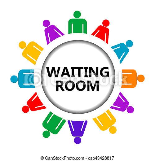 αναμονή , σήμα , σύνολο , δωμάτιο , άνθρωποι  - csp43428817