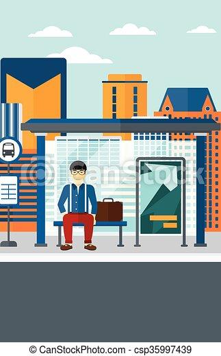 αναμονή , bus., άντραs  - csp35997439