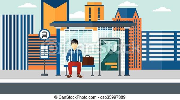 αναμονή , bus., άντραs  - csp35997389