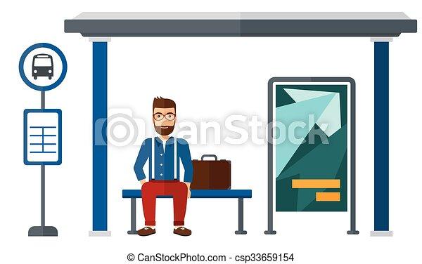 αναμονή , bus., άντραs  - csp33659154