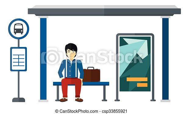 αναμονή , bus., άντραs  - csp33855921