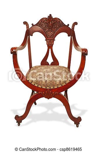 αντίκα , μαόνι , chair. - csp8619465