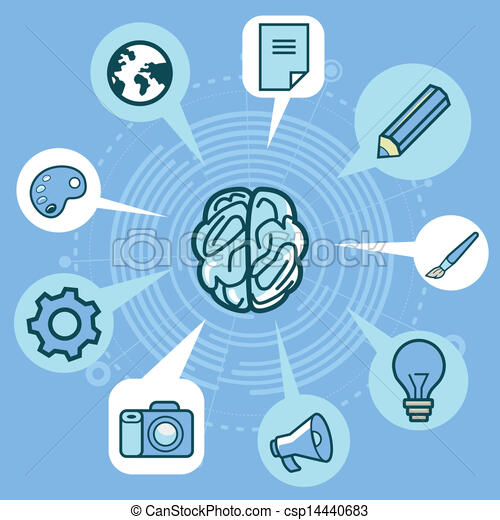 αντίληψη απεικόνιση , δημιουργικότητα , - , εγκέφαλοs , μικροβιοφορέας  - csp14440683