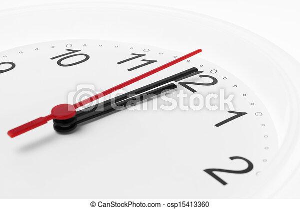 αντίστροφη μέτρηση , άσπρο , μεσάνυκτα , φόντο , ρολόι  - csp15413360