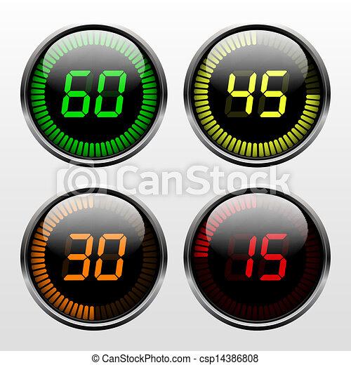 αντίστροφη μέτρηση , μετρών την ώραν , ψηφιακός  - csp14386808