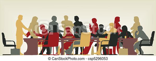 απασχολημένος , συνάντηση  - csp5296053
