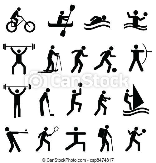 απεικονίζω σε σιλουέτα , αθλητισμός  - csp8474817