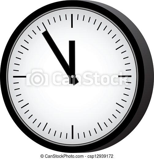 απλό , retro , ρολόι  - csp12939172
