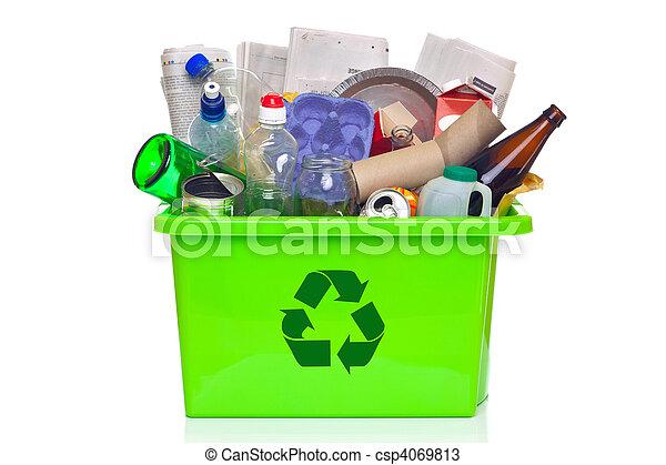 αποθήκη , άσπρο , ανακύκλωση , πράσινο , απομονωμένος  - csp4069813