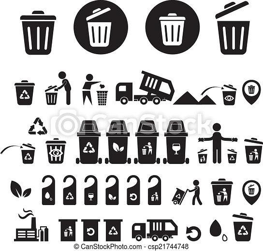 αποθήκη , ανακύκλωση , θέτω , απεικόνιση  - csp21744748