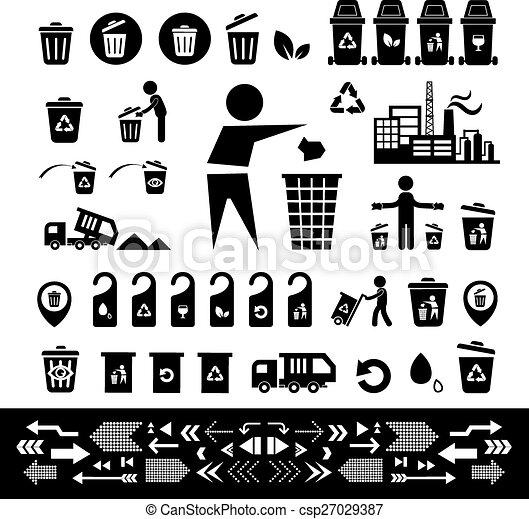αποθήκη , ανακύκλωση , θέτω , εικόνα  - csp27029387