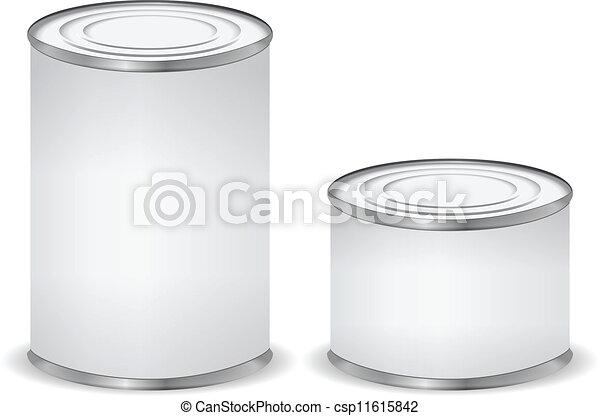 απομονωμένος , κασσίτερος , άσπρο , cans  - csp11615842