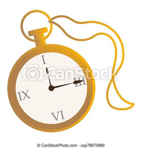 απομονωμένος , χρυσαφένιος , ρολόι , γριά  - csp78970969