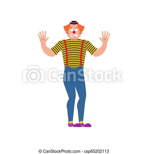 απώλεια , ζαλίζω , mixed-up, harlequin., εικόνα , μικροβιοφορέας , clown., funnyman. - csp65202113