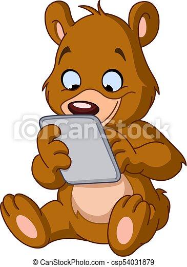 αρκούδα , δισκίο , teddy  - csp54031879