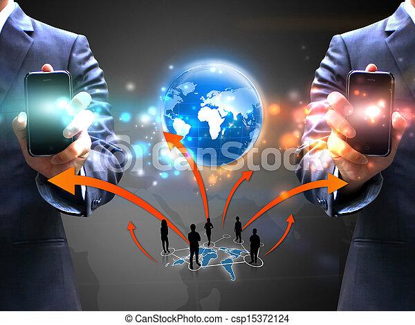 αρμοδιότητα ακόλουθοι , δίκτυο , κράτημα , κοινωνικός  - csp15372124