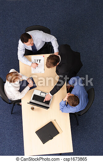 αρμοδιότητα ακόλουθοι , - , τέσσερα , brainstorming , συνάντηση  - csp1673865