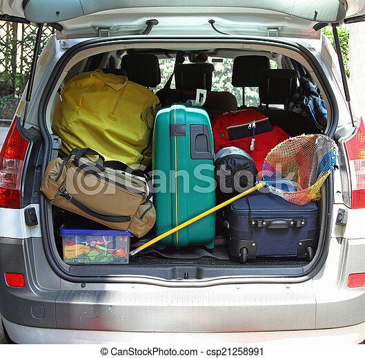 αρπάζω , αποσκευέs , αυτοκίνητο , ψάρεμα , κιβώτιο , έτοιμος , αλιεύω  - csp21258991