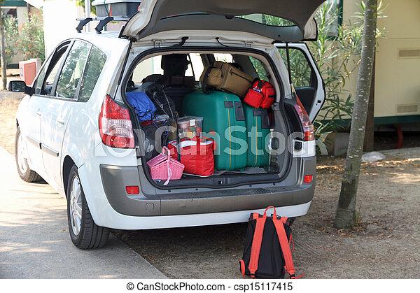 αρπάζω , βαλίτσα , πολοί , δυο , αγίνωτος άμαξα αυτοκίνητο  - csp15117415