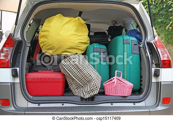 αρπάζω , βαλίτσα , πολοί , δυο , αγίνωτος άμαξα αυτοκίνητο  - csp15117409