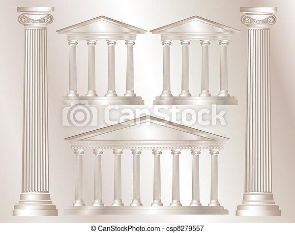 αρχαία ελληνική κίων  - csp8279557