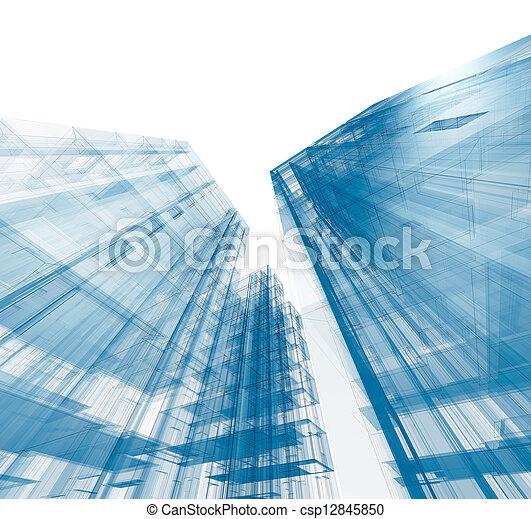 αρχιτεκτονική , απομονωμένος  - csp12845850