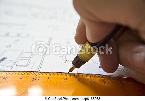 αρχιτεκτονικός , σχέδιο , projec - csp6165368