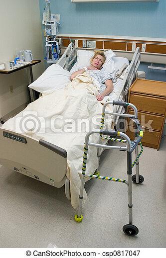 ασθενής , post-op, νοσοκομείο , αδύναμος , κρεβάτι , 4  - csp0817047