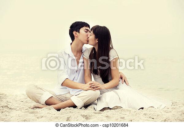 ασπασμός , ζευγάρι , παραλία  - csp10201684