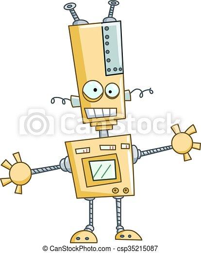 αστείος , ρομπότ  - csp35215087